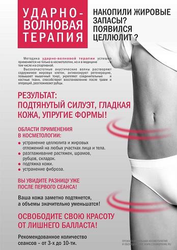 Ударно-волновая терапия Плакат 420х594 мм