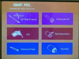 Меню аппарата для газожидкостного пилинга Smart Peel